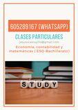 CLASES DE ECONOMÍA Y MATEMÁTICAS - foto