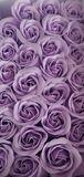 Letras de  flores de jabón - foto