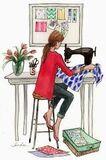 Costurera de prendas vestir y tapicerÍa - foto