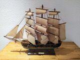 Maqueta FRAGATA naval siglo XVIII. - foto