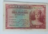 BILLETES 10 PESETAS 1935 - foto