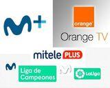 Movistar plus, orange tv, mitele plus - foto