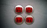 Pegatinas llantas Honda Gris rojo 64mm - foto