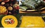 Pan de jamón y hallacas Venezolanas - foto