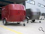 Remolque fibra cerrado motos quads - foto