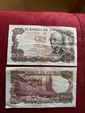 Billetes 100 pesetas - foto