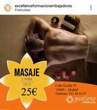 Masaje de descarga de músculos - foto