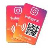 Pegatina Instagram con NFC y QR - foto