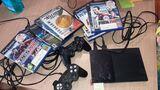 Playstation 2 con 10 juegos, - foto