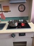 Cocinita infantil+ pizarra pitufos - foto