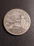 2 pesetas plata de 1870 - foto