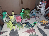 lote 13 miniaturas dinosaurios - foto