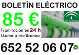 CERTIFICADO BOLETIN ELECTRICO CIE BIE - foto