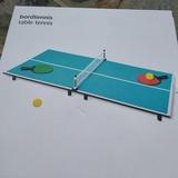 TABLA DE TENIS PEQUEÑA 80 X 40 CM - foto