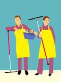 Se ofrecen 2 chicas para limpieza - foto