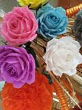 Rosas de papel crepe - foto
