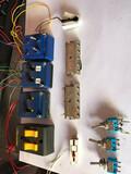 Lote componentes eléctricos maqueta tren - foto