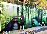 Graffiti Mural Urban Art Profesional - foto