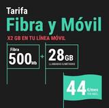 Fibra convergente 500Mb Media Ilimitada - foto