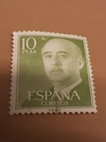 Sello Franco 10 pesetas .ESPAÑA - foto