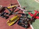 lote completo de aviones con emisoras y - foto