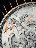 Moneda 5 pesetas 1957*74 con errores - foto
