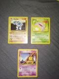 Pack 3 cartas Pokemon 1995-1999. - foto