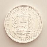 Bonito Bolívar de plata Venezuela 1965 - foto