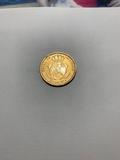 100 reales de oro de 1861 - foto
