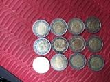 Monedas 2   euros - foto