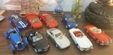 lote 9 coches a escala 1/18 marca Burago - foto