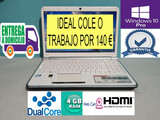 PORTATIL DUAL CORE HDMI 4 GB RAM 320 HDD