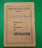 FORMULARIO DE CIRCULACIÓN 1964 - foto