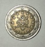 moneda de 2 euros Portugal del año 2002 - foto