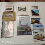 Libros y postales trenes  - foto