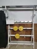 mueble barras y pesas body pump - foto