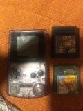 game boy color transparente y 2 juegos - foto