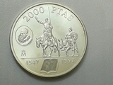 Moneda de 2000 pesetas. Plata. 1997. - foto
