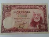 Billete de 50 pesetas de 1951. - foto