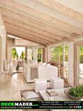 Porche de madera Madrid . Deckmader - foto