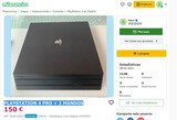 Playstation 4 pro + 2 mandos - estafa!! - foto