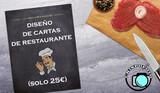 Diseño de cartas de restaurante - foto