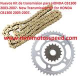 KIT TRANSMISION HONDA CB1300 2003-2007 - foto