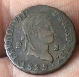 moneda antigua,Fernando VII 1829 - foto