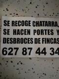 SE RECOGE CHATARRA Y SE A EN PORTES - foto
