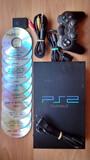 PlayStation 2 con mando, memoria, juegos - foto