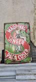 Cartel  maquina de coser singer - foto
