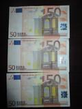 Lote billetes 50 euros (año 2002) - foto