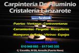 Cristalería y  Aluminio Lanzarote - foto