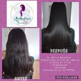 Aplicación de keratina en cabello - foto